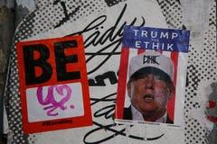 Straatkunst in Houston Avenue in Soho stock afbeelding