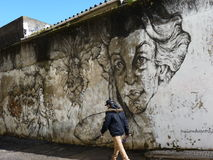 Straatkunst in Lissabon Royalty-vrije Stock Foto