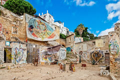 Straatkunst in Lissabon Stock Fotografie