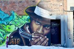 Straatkunst Montreal stock foto