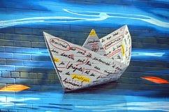 Straatkunst Montreal Stock Afbeelding