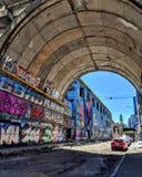 Straatkunst in Odessa Van de binnenstad stock fotografie