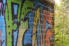 Straatkunst onder de brug royalty-vrije stock fotografie