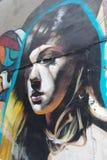 Straatkunst op de muur van een gebouw royalty-vrije stock afbeelding