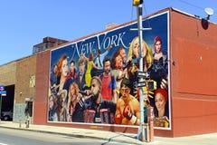 Straatkunst op stadsstraat in Brooklyn, New York Royalty-vrije Stock Fotografie