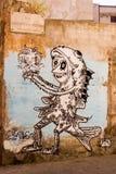 Straatkunst in Palermo, Italië Royalty-vrije Stock Foto's