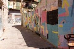 Straatkunst in Palermo, Italië Stock Foto's