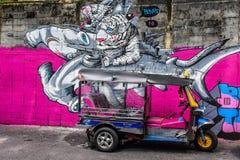 Straatkunst in Sukhumvit 32 Stock Afbeeldingen