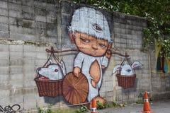 Straatkunst in Sukhumvit 32 Royalty-vrije Stock Fotografie