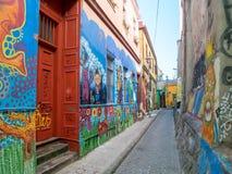 Straatkunst van Valparaiso Stock Afbeeldingen