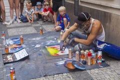 Straatkunstenaar stock afbeelding