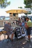 Straatkunstenaar op St Teken` s strandboulevard, Venetië, Italië Royalty-vrije Stock Foto's
