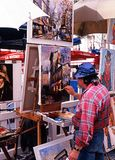 Straatkunstenaar, Parijs Stock Foto