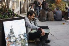 Straatkunstenaar, schilder Royalty-vrije Stock Afbeeldingen