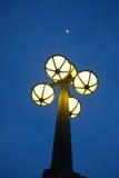 Straatlantaarn bij nacht Stock Foto's