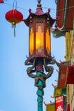 Straatlantaarn in de Stad van China van San Franscisco Stock Foto