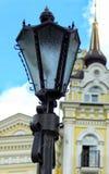 Straatlantaarn in Kiev stock afbeelding