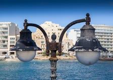 Straatlantaarn in Malta Stock Fotografie