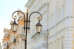 Straatlantaarn in Nizhny Novgorod Stock Afbeeldingen