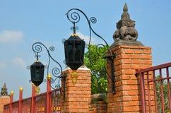Straatlantaarn in Thailand, retro stijl royalty-vrije stock afbeeldingen
