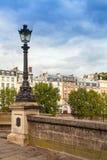 Straatlantaarn van Pont Neuf in Parijs Stock Foto