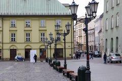 Straatlantaarns in het Kleine Marktvierkant Stock Afbeelding