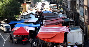 Straatmarkt Royalty-vrije Stock Afbeelding