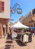 Straatmarkt in Colmar, Frankrijk Royalty-vrije Stock Foto