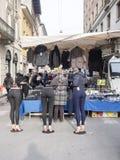 Straatmarkt in Cremona, Italië Royalty-vrije Stock Afbeeldingen