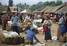 Straatmarkt, Inle-Meer, Shan State, Myanmar Royalty-vrije Stock Afbeelding
