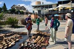 Straatmarkt in Luderitz, Namibië Stock Foto