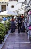 Straatmarkt in Mijas Stock Afbeeldingen