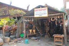 Straatmening in Bagan Myanmar stock afbeelding