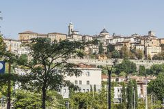 Straatmening, Bergamo, Italië Stock Afbeelding
