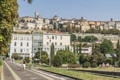 Straatmening, Bergamo, Italië Stock Fotografie