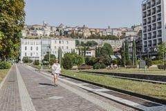 Straatmening, Bergamo, Italië Royalty-vrije Stock Foto's