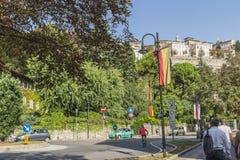 Straatmening, Bergamo, Italië Stock Afbeeldingen