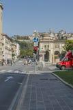 Straatmening, Bergamo, Italië Royalty-vrije Stock Foto