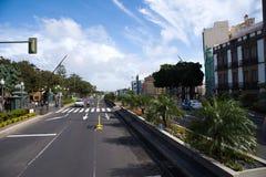 Straatmening in Centrum van Las Palmas Literair Kabinet royalty-vrije stock foto's