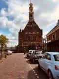 Straatmening in Hoorn, Nederland stock foto's