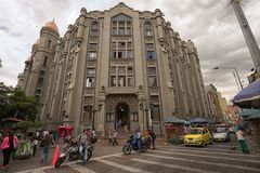 Straatmening in Medellin Colombia royalty-vrije stock foto's