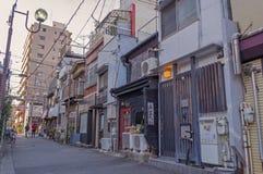 Straatmening in Nezu, Japan royalty-vrije stock foto's