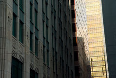 Straatmening, onderaan stad, Toronto, Ontario, Canada Stock Foto