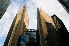 Straatmening, onderaan stad, Toronto, Ontario, Canada Stock Afbeeldingen