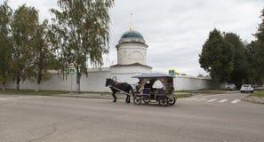 Straatmening in suzdal, Russische federatie royalty-vrije stock foto