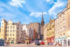 Straatmening van Edinburgh stock fotografie