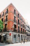 Straatmening van Las Letras of Literair Kwart in Madrid royalty-vrije stock foto's