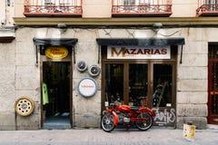 Straatmening van Las Letras of Literair Kwart in Madrid royalty-vrije stock afbeeldingen