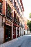Straatmening van Las Letras of Literair Kwart in Madrid royalty-vrije stock afbeelding