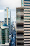 Straatmening van Seattle van de binnenstad Stock Foto's